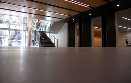 seamless polished concrete flooring