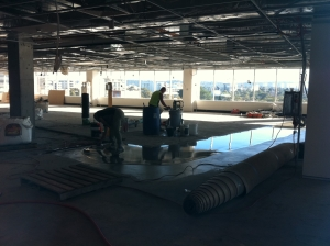 Installing a polished concrete floor
