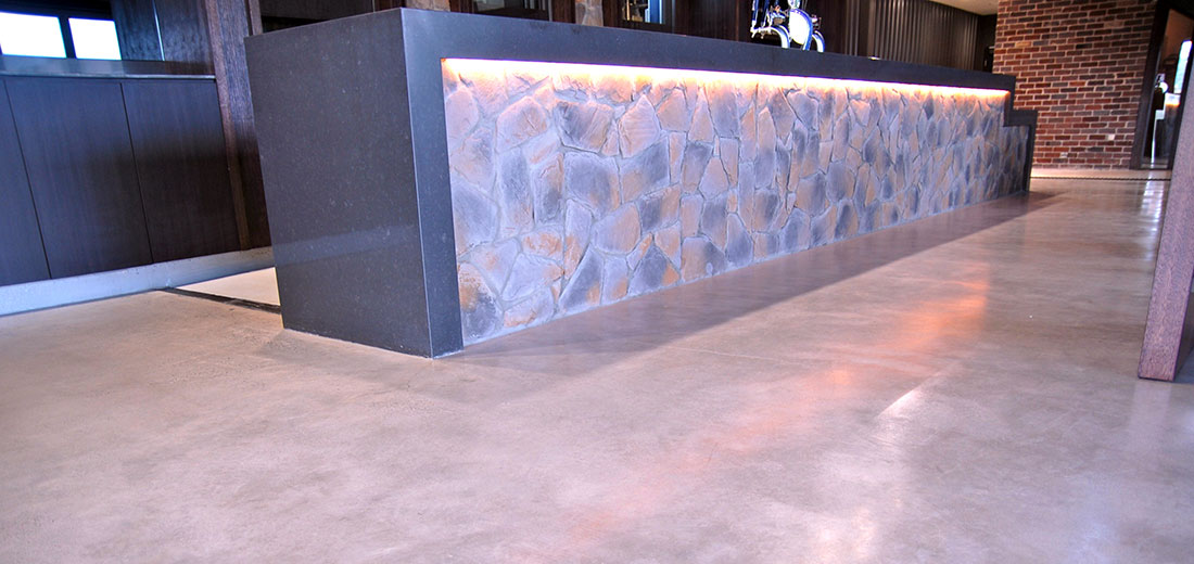 polished concrete flooring central coast