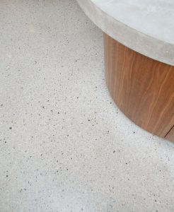polished cement floor in Dover Heights