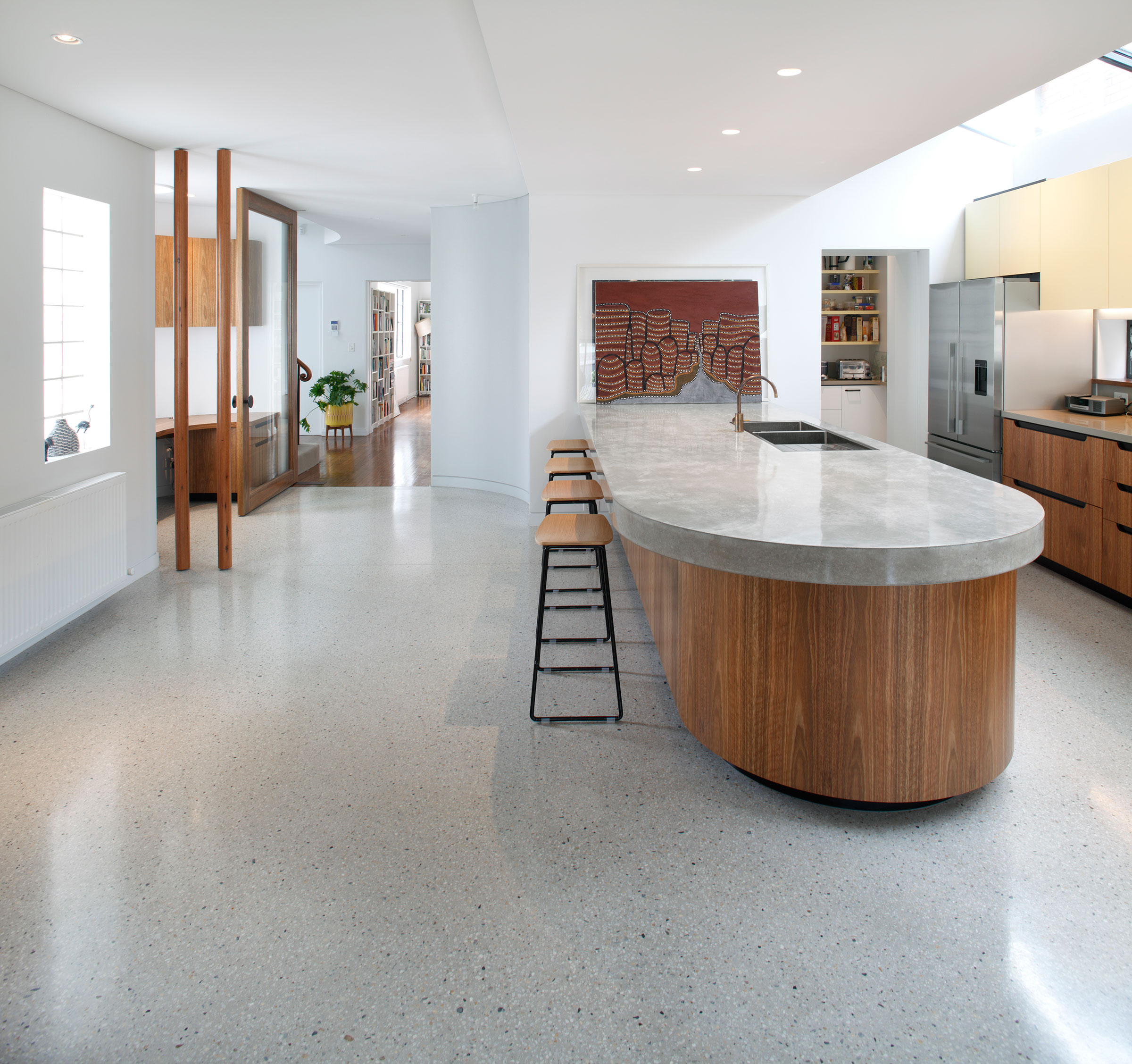 Polished Concrete Floor in Dover Heights Honestone Concrete