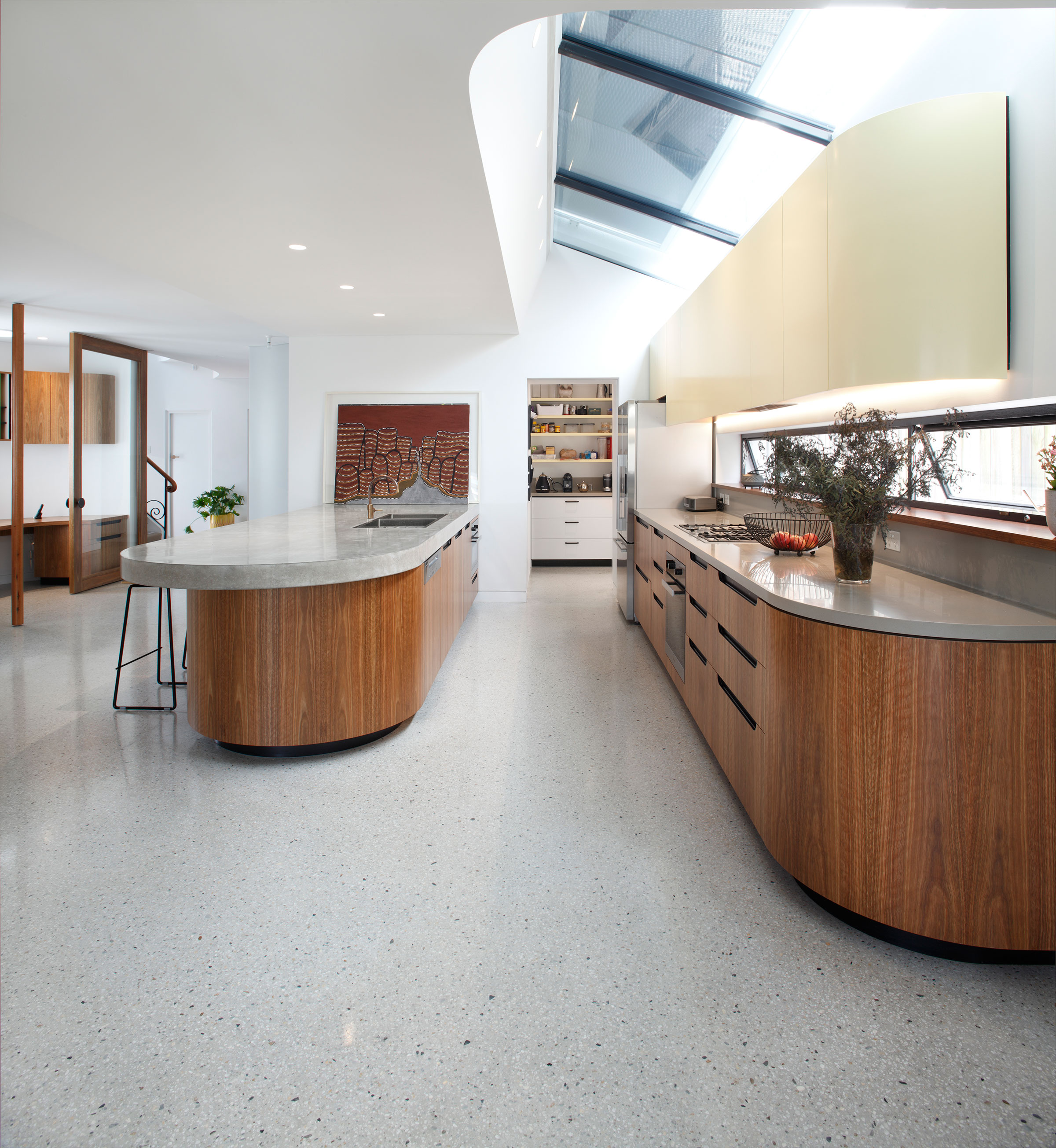 Polished Concrete Kitchen Floor Polished Concrete Floor In Dover Heights Honestone Concrete