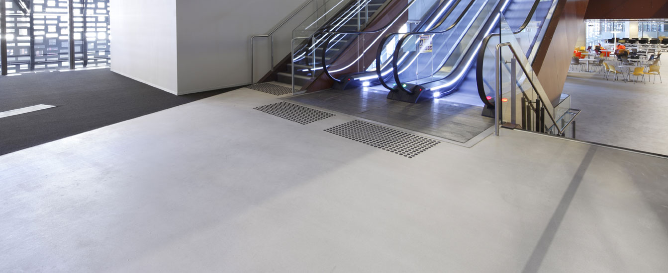 polished concrete and terrazzo