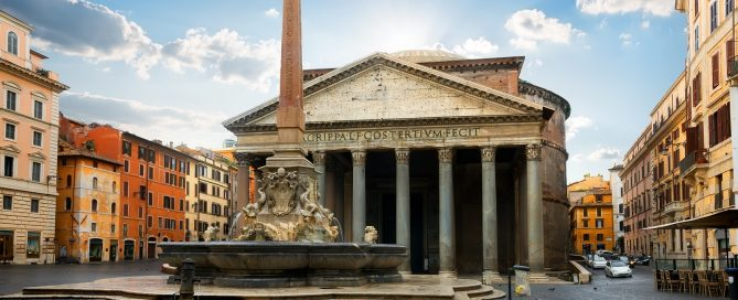Pantheon Rome - largest unreinforced concrete structure