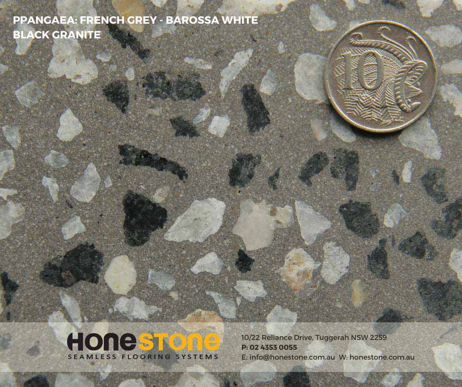 PANGAEA- FRENCH GREY - BAROSSA WHITE BLACK GRANITE