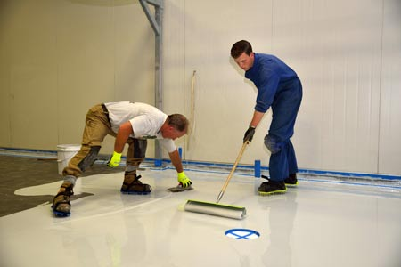 resin flooring installation